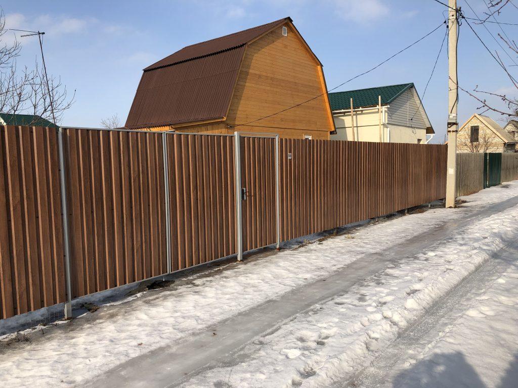 Цена забора из профнастила в городе Волгоград и Волжский