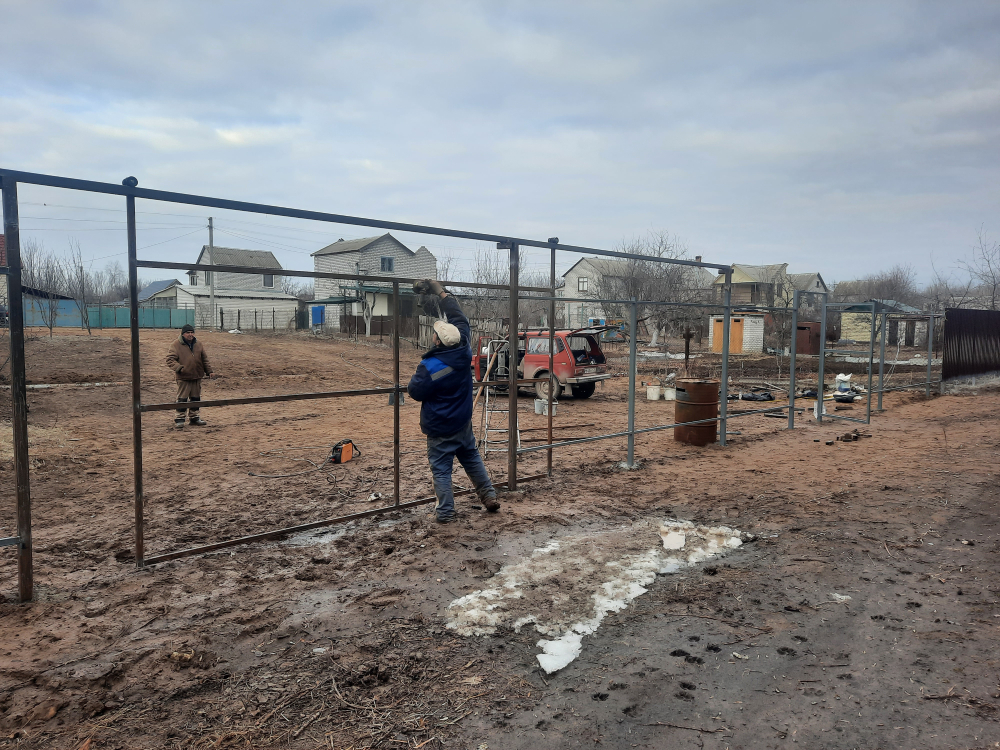 Забор в Среднеахтубинском районе