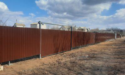 Наш забор из профнастила СНТ Тихие Зори